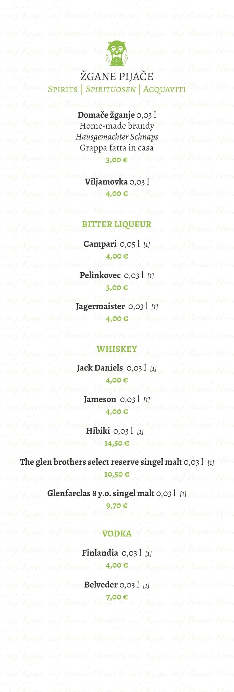 Wines Beverages Restaurant Sova Bled